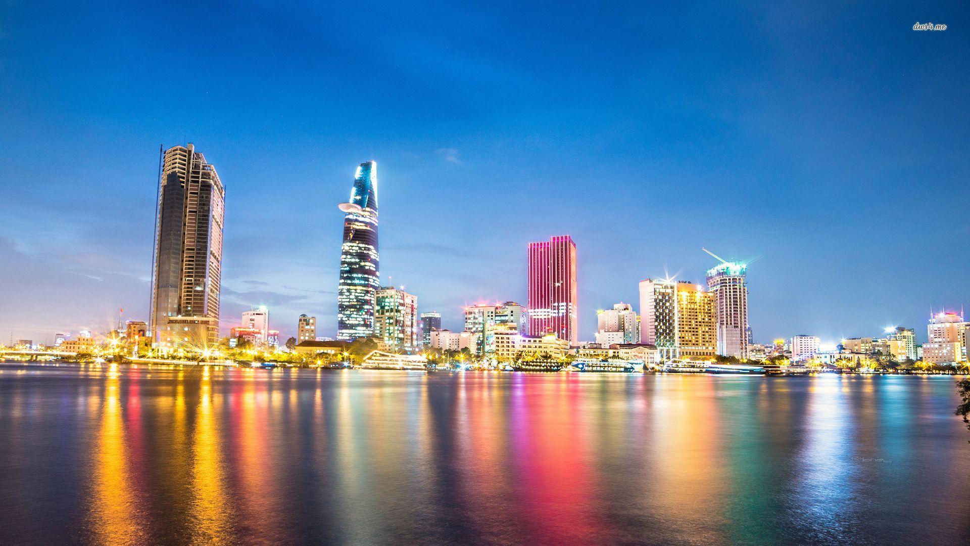 Хошимин Вьетнам ночь огни скачать